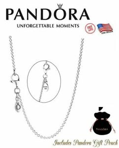 """Authentic Pandora S925 Ale Sterling Silver 17.7"""" Cable Chain Necklace 590412-45"""