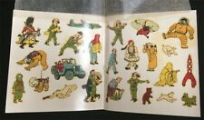 Original Tintin Decal Set 25 in Book Rare Made in Paris VTG Space Astronaut Moon