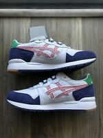 Asics Gel Lyte Mens Athletic Sneakers White / Red Casual Running Shoes