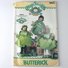 Butterick 6920 Cabbage Patch Kids Costume Pattern One Size Uncut FF Vtg 1984