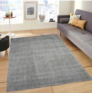 5' x 8' Rug | Hand Woven Gray Nylon Area Rug