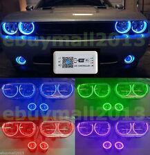 WIFI Control RGB 6 Halo Rings For Challenger Devil Angel Eyes Fog Light Corona