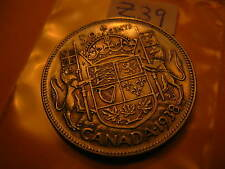 CANADA1938 RARE SILVER 50 CENT COIN  ID#Z39