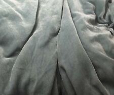 """Silk VELVET Fabric DUSTY LIGHT BLUE 9""""x22"""" remnant"""
