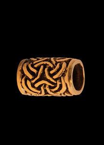 Bartperle und Lockenperle mit keltischen Knoten aus Bronze