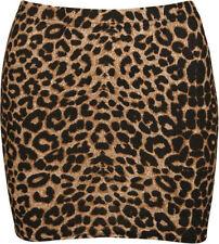 Viscose Animal Print Mini Skirts for Women