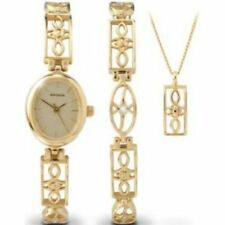 Sekonda Champagne Dial Ladies Gold Watch Bracelet & Pendant Gift Set 4534G
