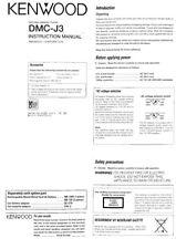 Kenwood DMCJ-3 Minidisc Player Owners Instruction Manual