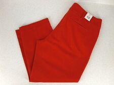 GAP Khaki Capri Pants Womens 12 Orange NEW NWT