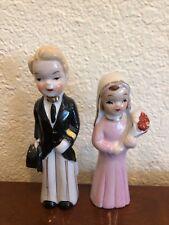 Vintage Bride and Groom Figurines Wedding Marriage Cake Topper Japan