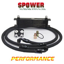 10 Row AN10 Engine Universal Oil Cooler BK + 3/4*16 & M20 Filter Relocation Kit