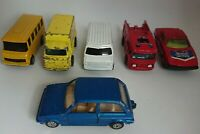 5 x Vintage Corgi Juniors Job Lot Die Cast Vehicles Car Bus Van & Mini Metro