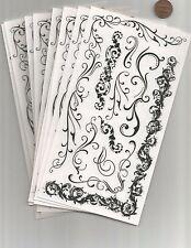BIG Lot 10 Scroll Style Rub-On Transfers Embellishments Cards Scrapbooking Craft