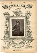 Lemercier et Cie, Paris-Théâtre, Célestine Galli-Marié (1837-1905), chanteuse Vi