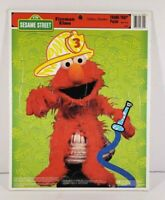 Sesame Street Fireman Elmo Frame Tray Puzzle Golden Collectible #8309 Complete