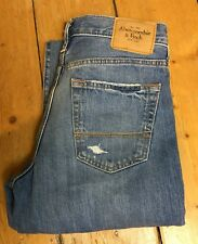 Abercrombie & Fitch Mens Distressed Jeans Button Fly Straight Leg Waist 30in L32