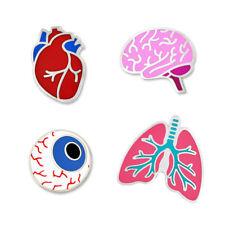 PinMart's The Human Organs Medical Halloween Fun Enamel Lapel Pin Set