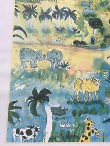 Noah's Ark Watercolor Print Portland Zoo Artist Mike Smith Animal Nursery Decor