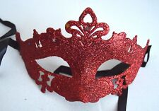 NEW Red glitter and star Masquerade Mask Eye Prom Gothic halloween