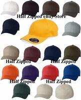 Flexfit Structured Twill Fitted Cap Baseball Hat 6277 S/M L/XL XL/2XL 19 COLORS!