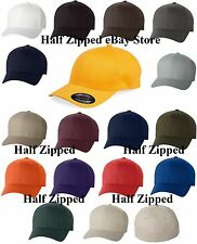 Flexfit Structured Twill Fitted Cap Baseball Hat 6277 S/M L/XL XL/2XL 19 COLORS!