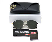 Ray-Ban RB3574N Blaze Round 001/71 Gold/Green Lens Unisex Sunglasses 59mm new