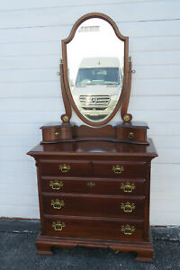 Solid Wood Dresser Bathroom Vanity with Mirror by Lexington 1561