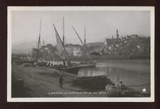 France Alpes-Maritimes MENTON Port Sailing Boats 1908 RP PPC