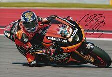 Colin Edwards mano firmado NGM Mobile adelante carreras 12x8 Foto MotoGP.