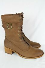 New Kork Ease Women's Mona Lace Up Boots Size 11m Brown Aztec K57806