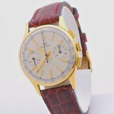 Anthony Chronograph 18 Carats Gold Manual Winding Landeron 349 Serviced