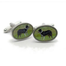 Border Collie Sheepdog Cufflinks by Onyx-Art New Gift Boxed CK1082