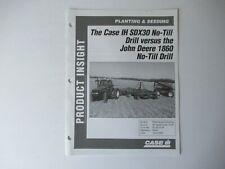 Case Caseih Sdx30 No Till Drill Planter Data Vs John Deere 1860 Brochure