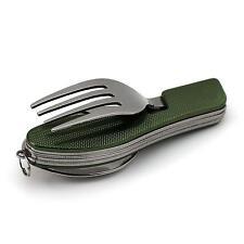 Popular Camping Picnic Travel 3 in 1 Folding Spoon Fork Knife Set Kit Multi Tool