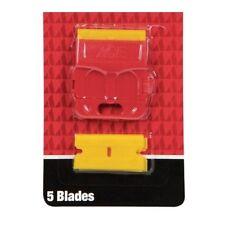 Plastic Double Edged Razor Blades and Mini Scraper Set extra blades
