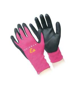 Shires Aubrion All Purpose Yard Gloves Grey or Pink 1070
