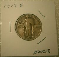 1929 S Standing Liberty Quarter 90% Silver Nice Circulated Coin  #20013