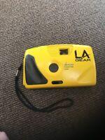 Camera Vintage Yellow LA gear 35mm compact camera Kineticolor