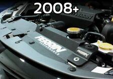 Black Perrin Upper Radiator Stay Kit For 2008-2014 WRX 08-14 STi