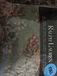 New Ralph Lauren Charlotte Rose Floral Fitted Sheet Full 100% Cotton