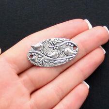 4 Birds Connector Charms Antique Silver Tone - SC1439