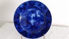 SHANGHAI Flow Blue Plate, Baker & Co. c. 1870-Deeply Flown Example