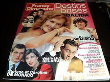 """FRANCE DIMANCHE H.S."" Dalida, Elvis PRESLEY, Michel BERGER, Bernard GIRAUDEAU"