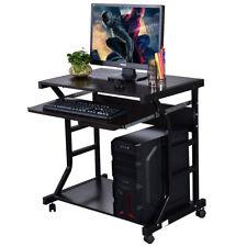 Home Office Corner Computer PC Desk Rolling Laptop Table Workstation Furniture