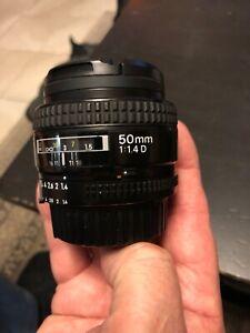 Nikon Nikkor 50mm f1.4D Lens