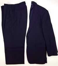 Brooks Brothers Suit Pinstripe 42R Blue Mens 2 Button Size Wool Blend 346 Navy