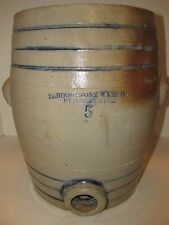 Antique Stoneware Cooler, Bangor Maine, Circa 1880-1914, Maine Pottery