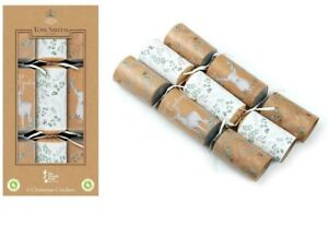 Tom Smith Christmas Crackers- 6 x 12'' Kraft Cube Crackers- Stag