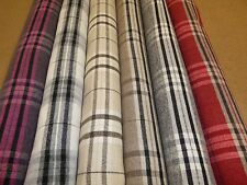 Tartan Checked Wool Effect Upholstery & Curtain Fabric (6 COLOURS)