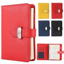 More details for diary notebook personal pocket organiser planner pu leather filofax cover 3 size